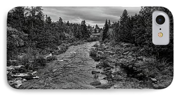Bend Oregon Deschutes River Bw IPhone Case by Chuck Kuhn