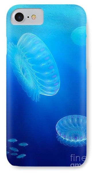 Beneath A Fractal Sea IPhone Case by John Edwards