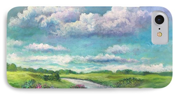 Beneath The Clouds Of Paradise IPhone Case by Randy Burns