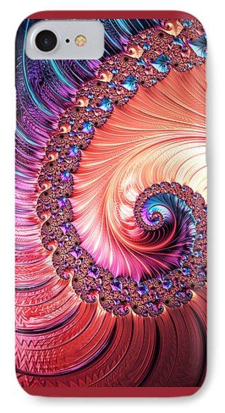 Beneath The Sea Spiral IPhone Case by Kathy Kelly