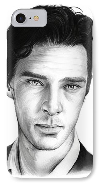 Benedict Cumberbatch IPhone Case by Greg Joens