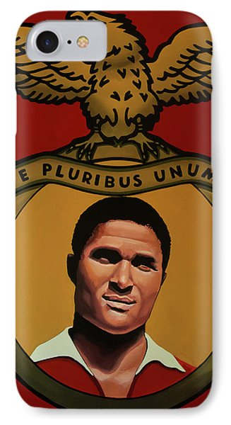 Cristiano Ronaldo iPhone 7 Case - Benfica Lisbon Painting by Paul Meijering