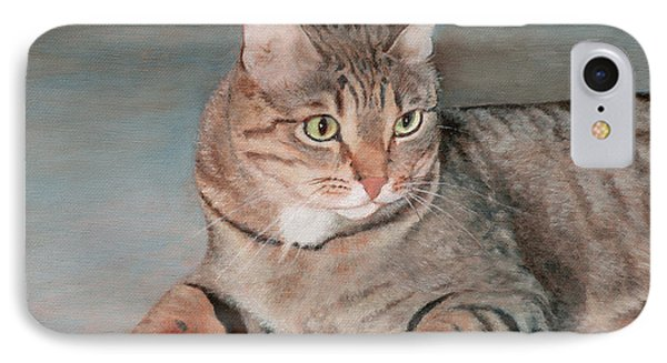 IPhone Case featuring the painting Bengal Cat by Joshua Martin