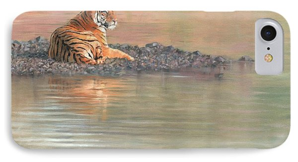 Bengal Tiger IPhone Case by David Stribbling