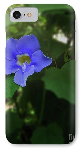 Bengal Trumpet Flower Blue Tones IPhone Case