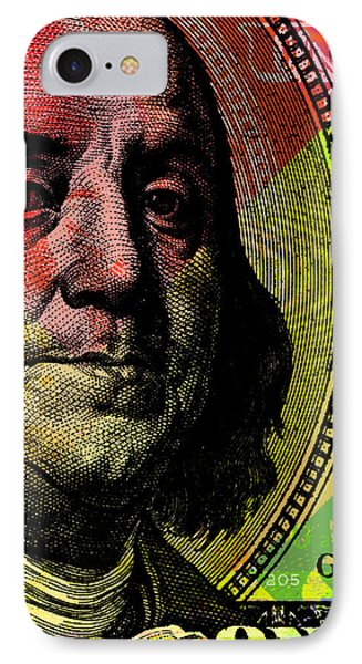Benjamin Franklin - $100 Bill IPhone Case by Jean luc Comperat