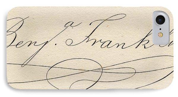 Benjamin Franklin, 1706-1790 IPhone Case