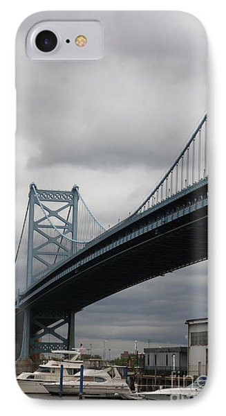 Benjamin Franklin Bridge Philadelphia IPhone Case by Christiane Schulze Art And Photography