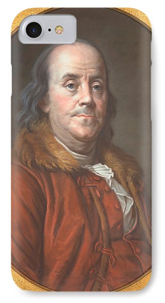 Benjamin Franklin IPhone Case by Jean Valade