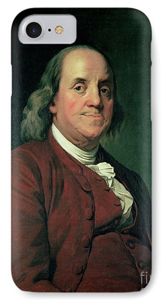 Benjamin Franklin IPhone Case by Joseph Wright of Derby