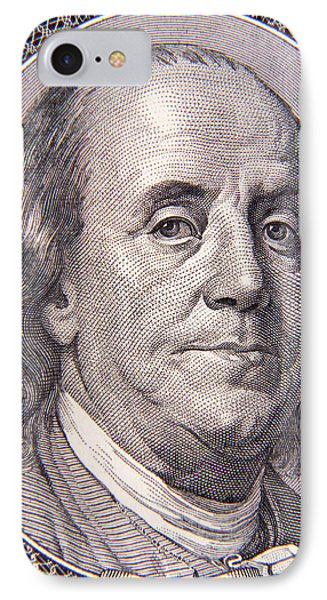 Benjamin Franklin IPhone Case by Les Cunliffe
