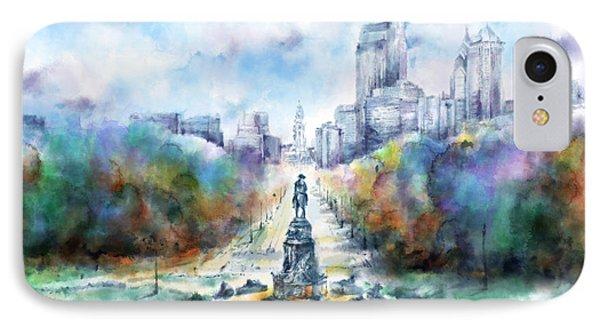 Benjamin Franklin Parkway 2 IPhone Case by Bekim Art