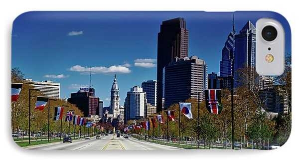 Benjamin Franklin Parkway - Philadelphia IPhone Case by Mountain Dreams