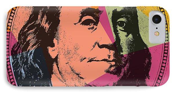 Benjamin Franklin Pop Art IPhone Case by Dan Sproul