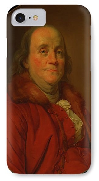 IPhone Case featuring the painting Benjamin Franklin by Workshop Of Joseph Duplessis