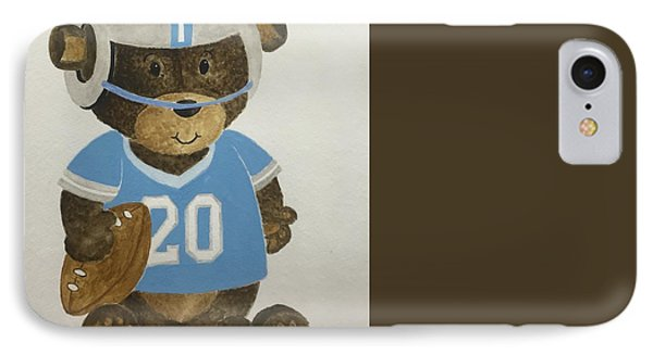 IPhone Case featuring the painting Benny Bear Football by Tamir Barkan