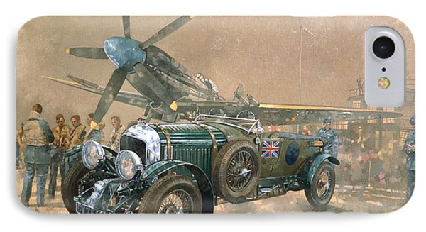 Bentley And Spitfire IPhone Case by Peter Miller