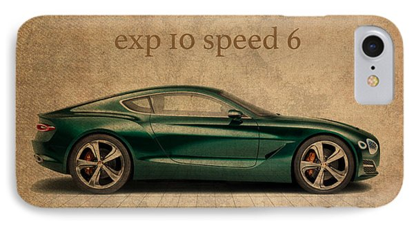 Bentley Exp 10 Speed 6 Vintage Concept Art IPhone Case by Design Turnpike