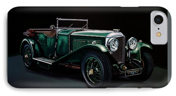 Bentley Open Tourer 1929 Painting IPhone Case by Paul Meijering