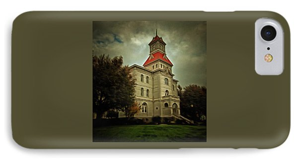 Benton County Courthouse IPhone Case by Thom Zehrfeld