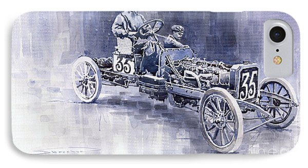 Benz 60hp Targa Florio Rennwagen 1907 IPhone Case by Yuriy  Shevchuk