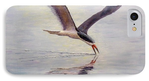 IPhone Case featuring the painting Black Skimmer by Joe Bergholm