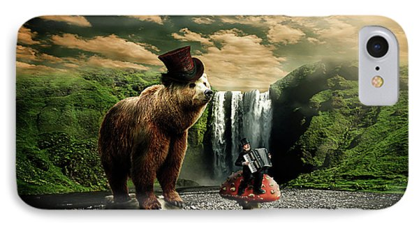 IPhone Case featuring the digital art Berlin Bear by Nathan Wright