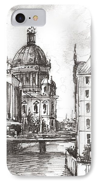 Berlin Black And White View On The Speer IPhone Case by Georgi Charaka