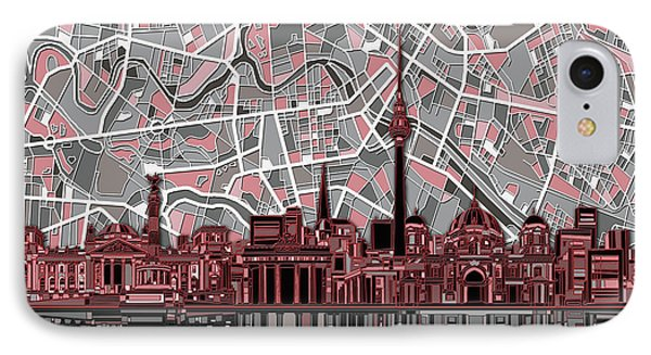Berlin City Skyline Abstract IPhone Case