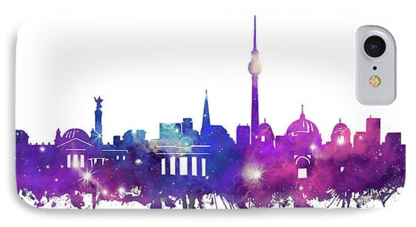 Berlin City Skyline Galaxy IPhone Case by Bekim Art