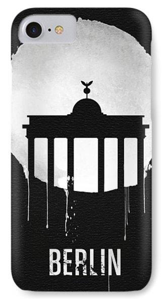 Berlin Landmark Black IPhone Case by Naxart Studio