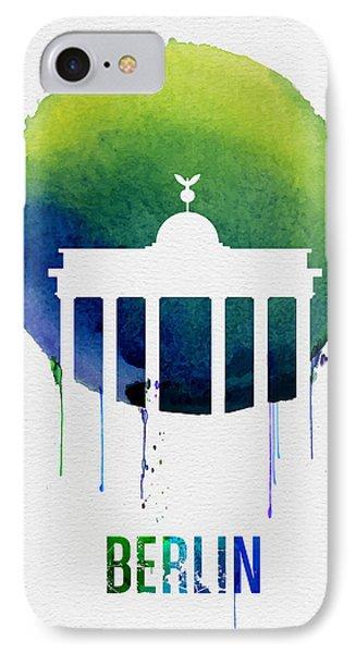 Berlin Landmark Blue IPhone Case by Naxart Studio