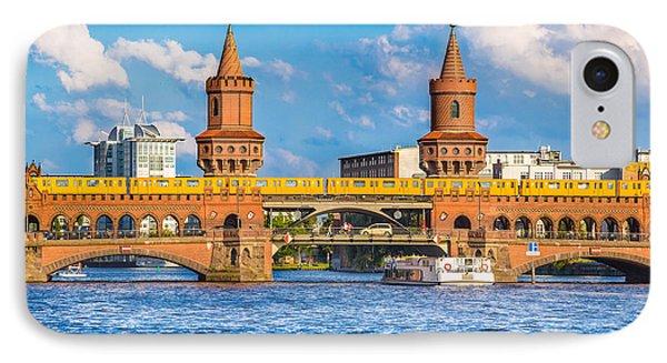 Berlin Oberbaum Bridge IPhone Case by JR Photography