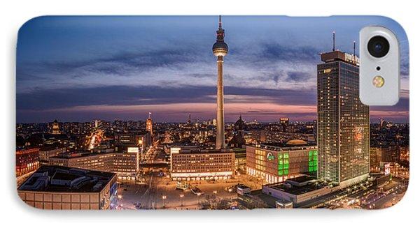 Berlin - Skyline Alexanderplatz  IPhone Case by Jean Claude Castor
