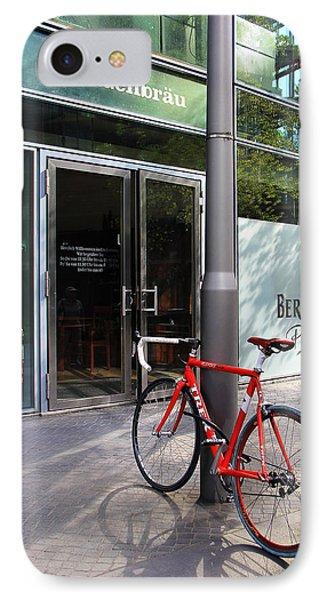 Berlin Street View With Red Bike Phone Case by Ben and Raisa Gertsberg