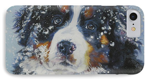 Bernese Mountain Dog Puppy IPhone Case by Lee Ann Shepard