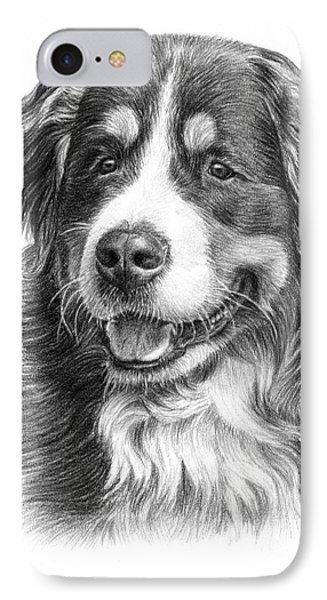 Bernese Mountain Dog IPhone Case by Tobiasz Stefaniak