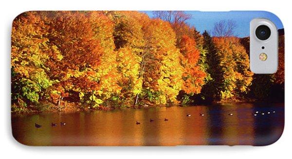 Bernharts Dam Fall 008 IPhone Case by Scott McAllister