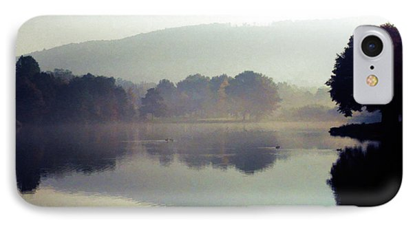 Bernharts Dam Fog 020 IPhone Case by Scott McAllister
