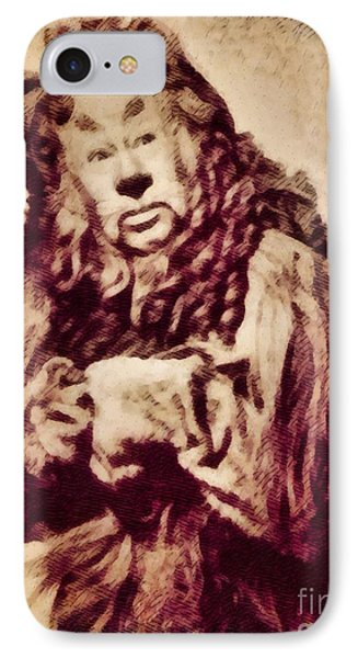 Bert Lahr, Lion From The Wizard Of Oz By John Springfield IPhone Case