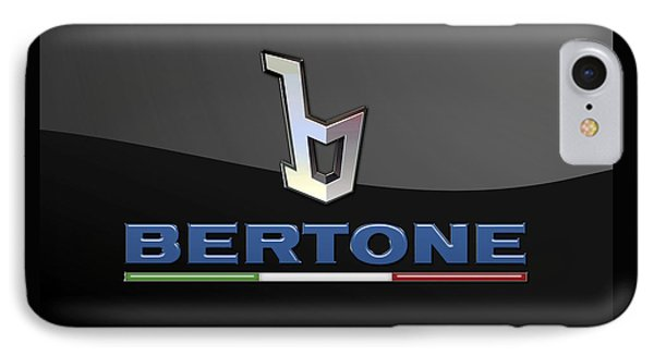 Bertone - 3 D Badge On Black IPhone Case by Serge Averbukh