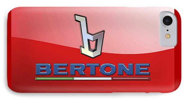 Bertone 3 D Badge On Red IPhone Case by Serge Averbukh