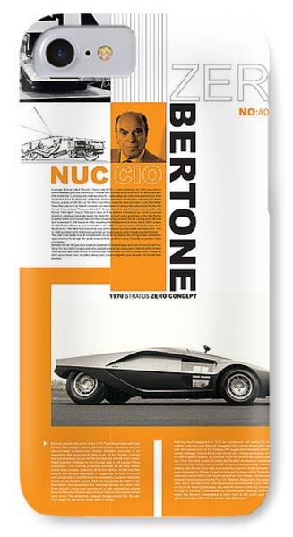 Bertone Poster IPhone Case by Naxart Studio