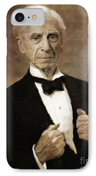 Bertrand Russell, Philosopher By Mary Bassett IPhone Case by Mary Bassett