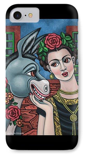 Beso Or Fridas Kisses IPhone Case by Victoria De Almeida