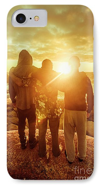Best Friends Greeting The Sun IPhone Case by Jorgo Photography - Wall Art Gallery