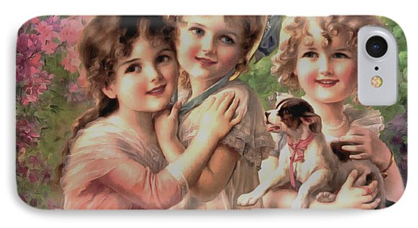 Best Of Friends IPhone Case by Emile Vernon