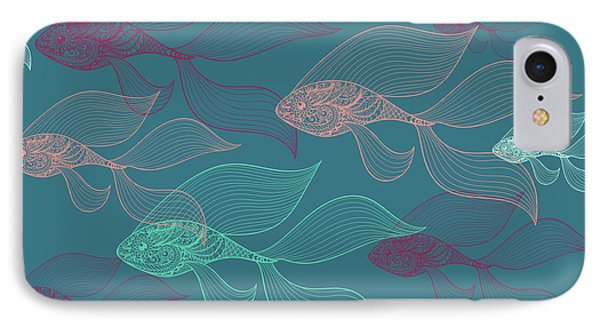 Beta Fish  IPhone 7 Case by Mark Ashkenazi