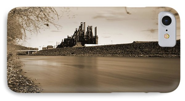 Bethlehem Steel Along The Lehigh IPhone Case by Jennifer Ancker