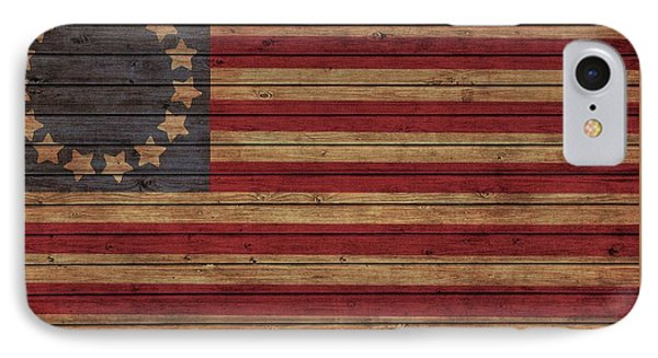 Betsy Ross American Flag Barn IPhone Case